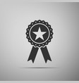 award medal with star and ribbon icon vector image
