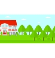 Background of house with step ladder vector image