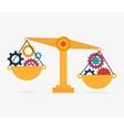 balance idea gear design isolated vector image