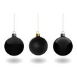 black christmas ball set vector image vector image