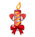 boxing character christmas decoration with vector image vector image