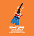 Bungy Jump vector image vector image