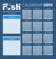 calendar planner for 2019 fish underwater hunting vector image vector image
