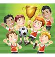 children soccer champions vector image vector image
