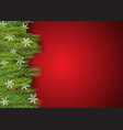 christmas background with pine tree branches vector image vector image