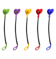 Color riding crops with heart sexual toy vector image