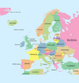coloured political map of europe vector image