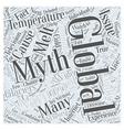 Common Global Warming Myths Word Cloud Concept vector image vector image
