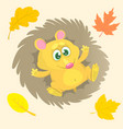cute cartoon hedgehog character vector image