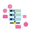 database server transaction bank bitcoin fintech vector image