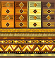 decorative background with african geometric vector image vector image