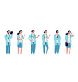 doctors at work medical person health care vector image