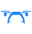 drone carrier grunge icon vector image vector image