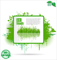Eco friendly grunge banner vector image