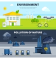 Environment And Pollution Banners Set vector image vector image