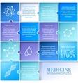 Flat medicine infographic design vector image vector image