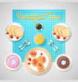 french breakfast template vector image vector image