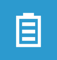 full battery icon white on the blue background vector image