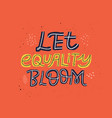 gender equality hand drawn message vector image vector image