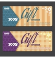 Gift certificate design template vector image