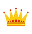 Gold crown vector image