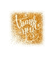 Golden Thank you badge vector image