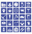 graphic flat icons of fast food vector image vector image