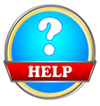 Help button vector image