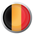 isolated flag of belgium vector image vector image