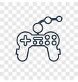 joypad concept linear icon isolated on vector image