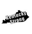 kentucky strong on map vector image vector image