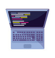 laptop with data code programming technology vector image