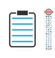 list page icon with bonus symbols vector image vector image