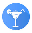margarita blue flat design long shadow glyph icon vector image