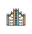 milan cathedral landmark italy flat vector image vector image
