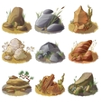mineral stones on ground collection vector image