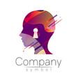 modern head logo of company brand profile human vector image vector image