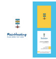 networks setting creative logo and business card vector image vector image