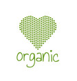 organic green heart vector image vector image