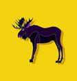 paper sticker on stylish background elk vector image