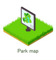 park map icon isometric style vector image vector image