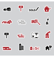 real estate stickers eps10 vector image