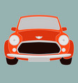 red classic car front vector image vector image