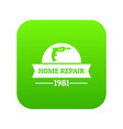repair car icon green vector image