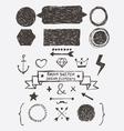 Rough Sketch Design Elements vector image vector image