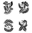 rowan branches vector image vector image