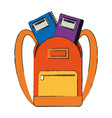 school backpack with books vector image vector image