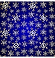 Seamless Pattern Blue Background with Snowflakes vector image vector image