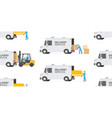 seamless pattern with delivery service warehouse vector image
