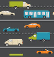 seamless pattern with transport on road vector image vector image